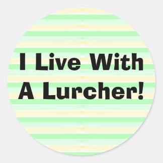 I Live With A Lurcher Sticker