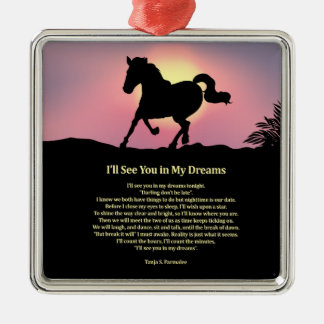 I'll See You in My Dreams Poetry Collector Metal Ornament
