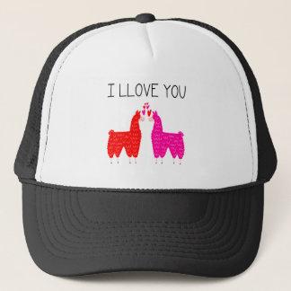 I Llove You Llama Couple Trucker Hat