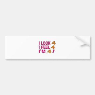 I Look And I Feel 4 Bumper Sticker