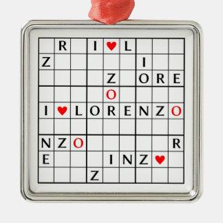 I♥LORENZO Silver-Colored SQUARE DECORATION
