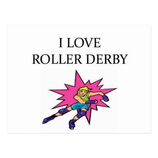 i lov3e roller derby postcard