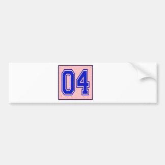 I love 04 bumper sticker