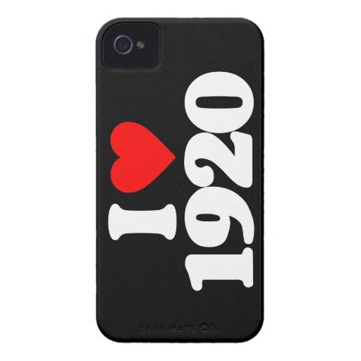 I LOVE 1920 iPhone 4 Case-Mate CASE