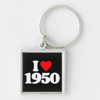 I LOVE 1950 KEYCHAINS
