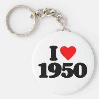 I LOVE 1950 KEYCHAIN