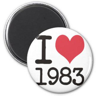 I Love 1983 Products & Designs! Fridge Magnet