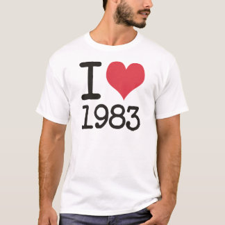 I Love 1983 Products & Designs! T-Shirt