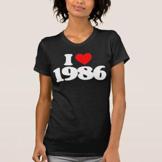 I LOVE 1986 T SHIRT