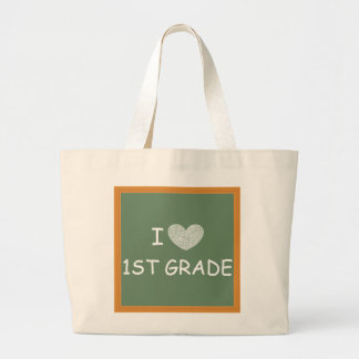 I Love 1st Grade Jumbo Tote Bag