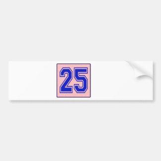 I love 25 bumper sticker