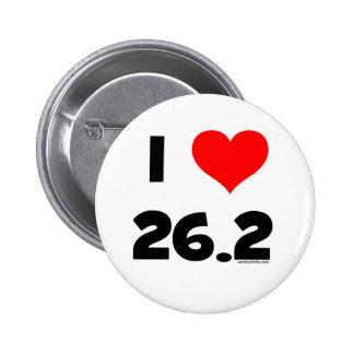 I Love 26.2 6 Cm Round Badge