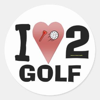 I Love 2 Golf Sticker