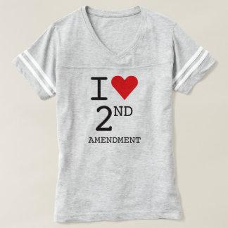 I Love 2nd Amendment Women's Grey T-Shirt