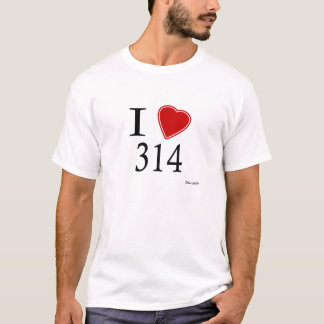 I Love 314 St. Louis T-Shirt