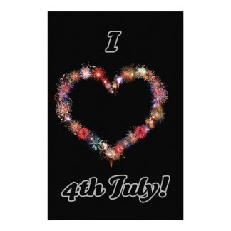 I love 4th of July home ware Personalized Stationery