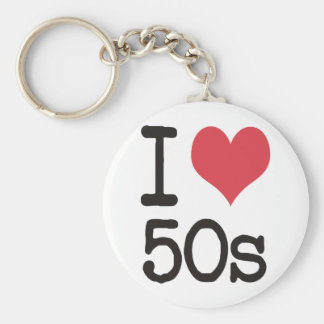 I Love 50s Products & Designs! Basic Round Button Key Ring