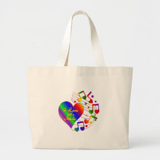 I Love 60s Music Large Tote Bag