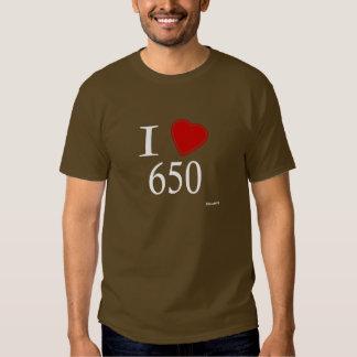 I Love 650 Palo Alto Tee Shirts