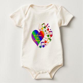 I Love 70s Music Baby Bodysuit