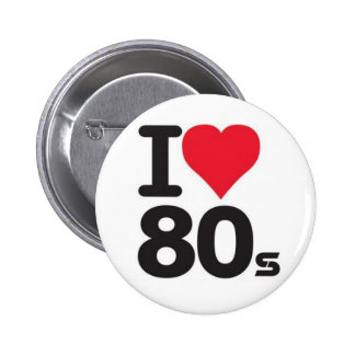 I love 80 pinback buttons