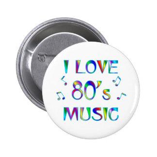 I Love 80s Pinback Button
