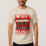 i love 80's music t-shirts