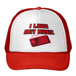 I Love 8bit Music Red Controller Digital Art Cap