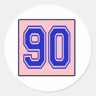 I love 90 round sticker