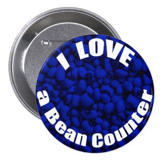 I Love a Bean Counter 7.5 Cm Round Badge