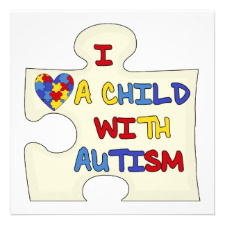 I Love a Child With Autism Custom Announcement