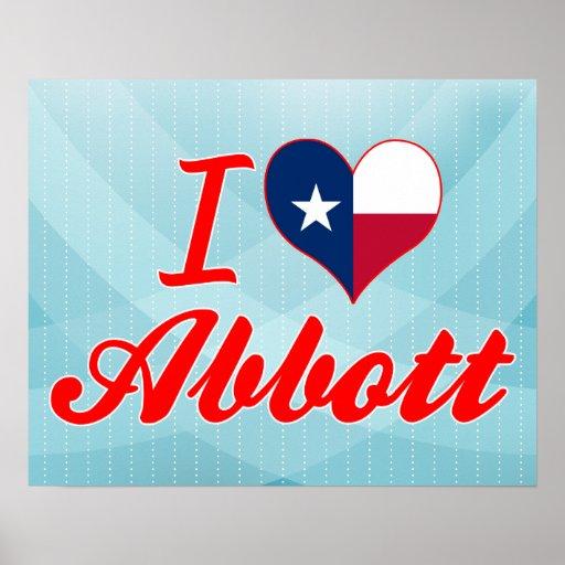 I Love Abbott, Texas Print