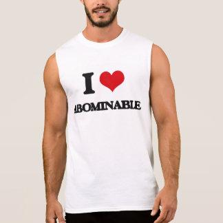 I Love Abominable Sleeveless Shirts