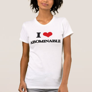I Love Abominable T-shirts