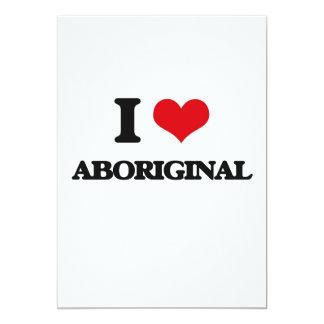 I Love Aboriginal Customized Invitation Cards
