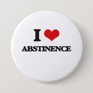 I Love Abstinence 7.5 Cm Round Badge