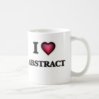 I Love Abstract Coffee Mug