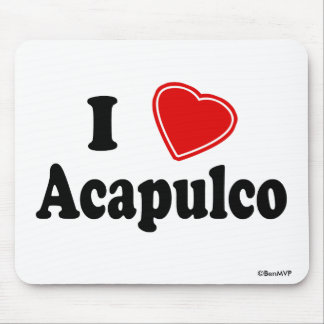 I Love Acapulco Mouse Pads