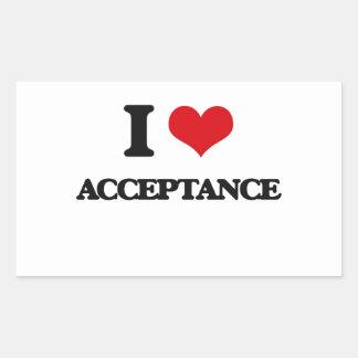 I Love Acceptance Sticker