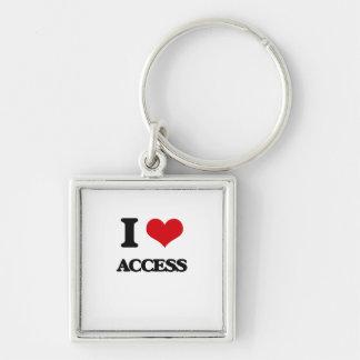 I Love Access Key Chain