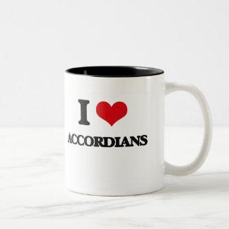 I Love Accordians Two-Tone Coffee Mug