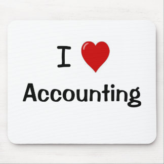 I Love Accounting Mousepad