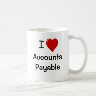 I Love Accounts Payable - Double Sided Coffee Mug