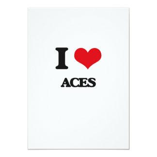 """I Love Aces 5"""" X 7"""" Invitation Card"""