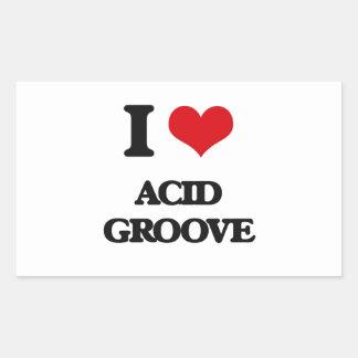 I Love ACID GROOVE Stickers
