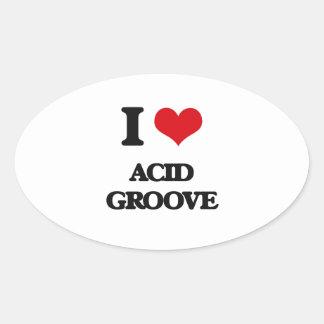 I Love ACID GROOVE Sticker