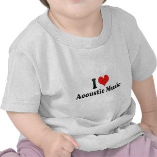 I Love Acoustic Music Tees