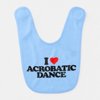 I LOVE ACROBATIC DANCE BABY BIB