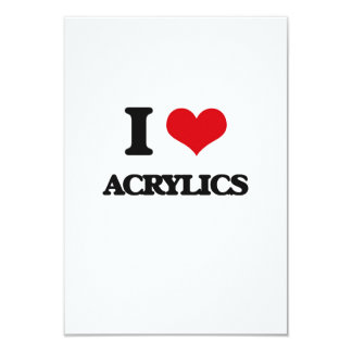 """I Love Acrylics 3.5"""" X 5"""" Invitation Card"""