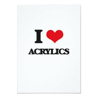 """I Love Acrylics 5"""" X 7"""" Invitation Card"""